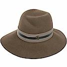 Maison Michel VIRGINIE 羅緞綢帶兔毛氈寬檐軟呢帽(橄欖木)