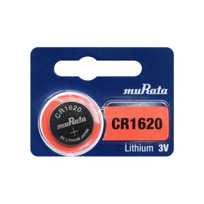 muRata村田(原SONY) 鈕扣型 鋰電池 CR1620 (5顆入) 3V