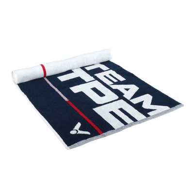 VICTOR 應援款浴巾-毛巾 台灣製 純棉 游泳 海邊 戲水 勝利 C-4168 丈青白紅