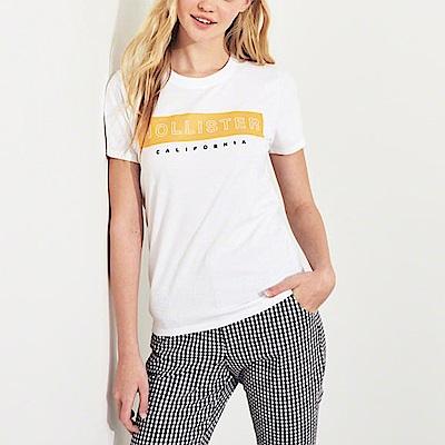 海鷗 Hollister 經典海歐印刷短袖T恤(女)-白色