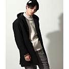 混羊毛連帽大衣(5色)-ZIP日本男裝
