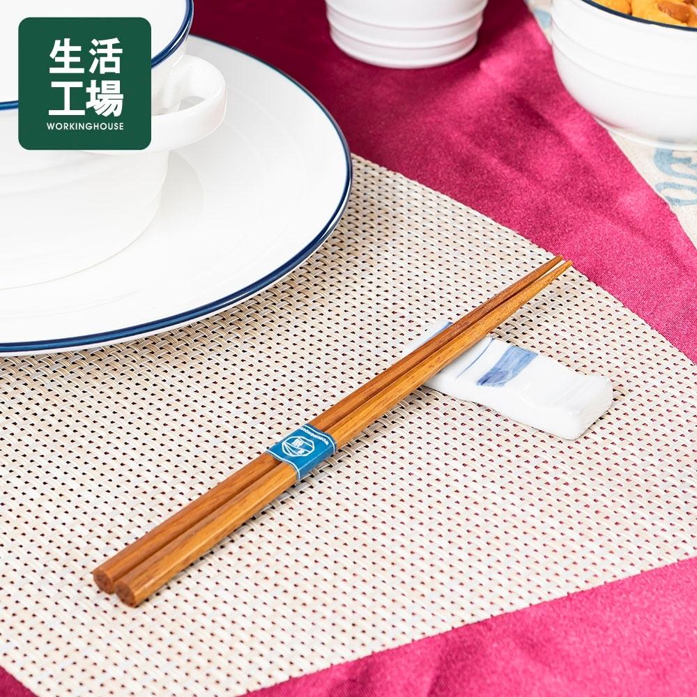 【百貨週年慶暖身 全館5折起-生活工場】箸福八角木筷23CM