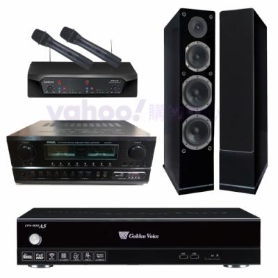 金嗓 CPX-900 A5+SA-830U+CHIAYO NDR-2620+AS-168B(伴唱機4TB+卡拉OK套組)