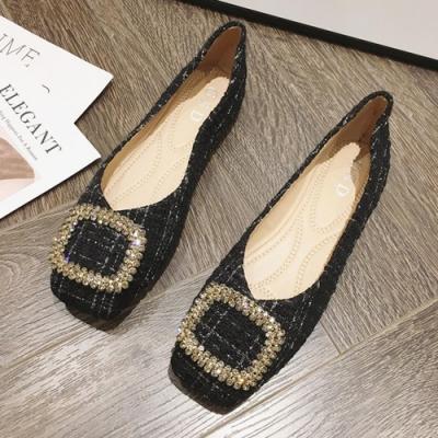 KEITH-WILL時尚鞋館 歐洲款縹緲情愫方頭淑女鞋-黑