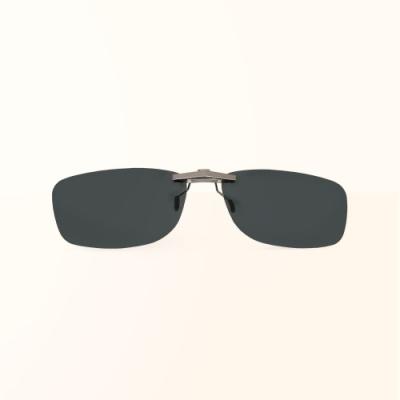 ALEGANT太空灰鋁鎂合金夾式結構寶麗來偏光太陽眼鏡/UV400墨鏡/車用夾片/外掛夾式鏡片