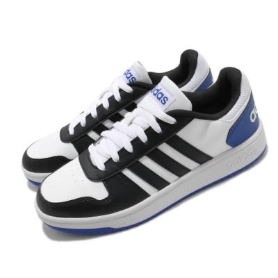 adidas 休閒鞋 Hoops 2 復古 男鞋 海外限定 愛迪達 基本款 穿搭推薦 白 黑 FW5994
