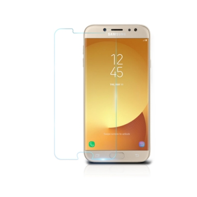【鐵鈽釤鋼化膜】SAMSUNG J3(2017)高清透玻璃保護貼