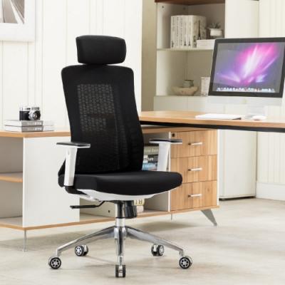 E-home Evolution高背半網人體工學電腦椅 黑色