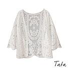 編織蕾絲罩衫外套 TATA