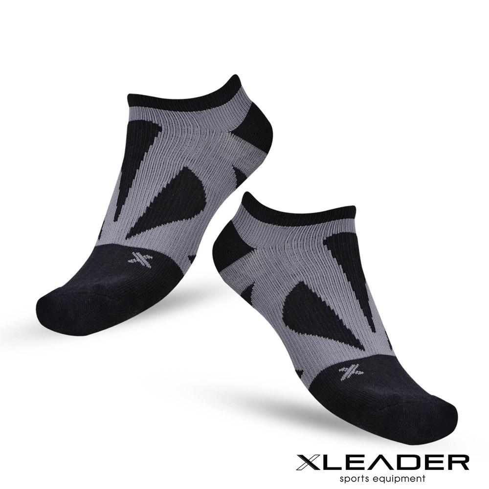 LEADER ST-05 8XU繃帶 加固避震氣墊除臭襪 踝襪 男款 黑灰 - 急