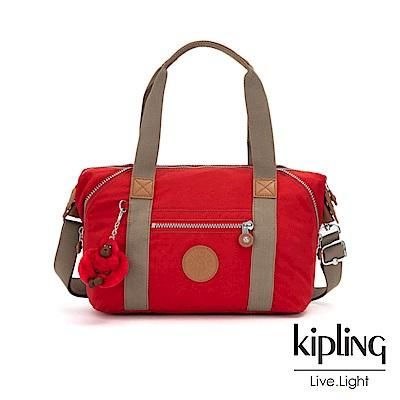 Kipling 亮眼紅撞色手提側背包-ART MINI-ESSENTIAL系列