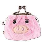 可愛豬造型小珠扣包 粉紅色UNIQUE