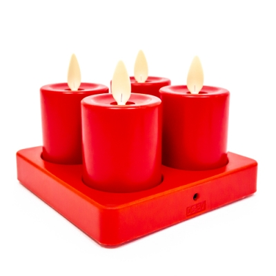 UP101 LED仿真電子蠟燭充電盤款4入(Y106-4PR)