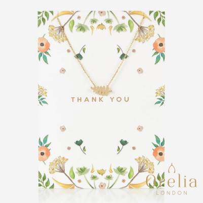Orelia 英國倫敦 森林系葉片鍍金墜飾項鍊 (附燙金禮品卡片)