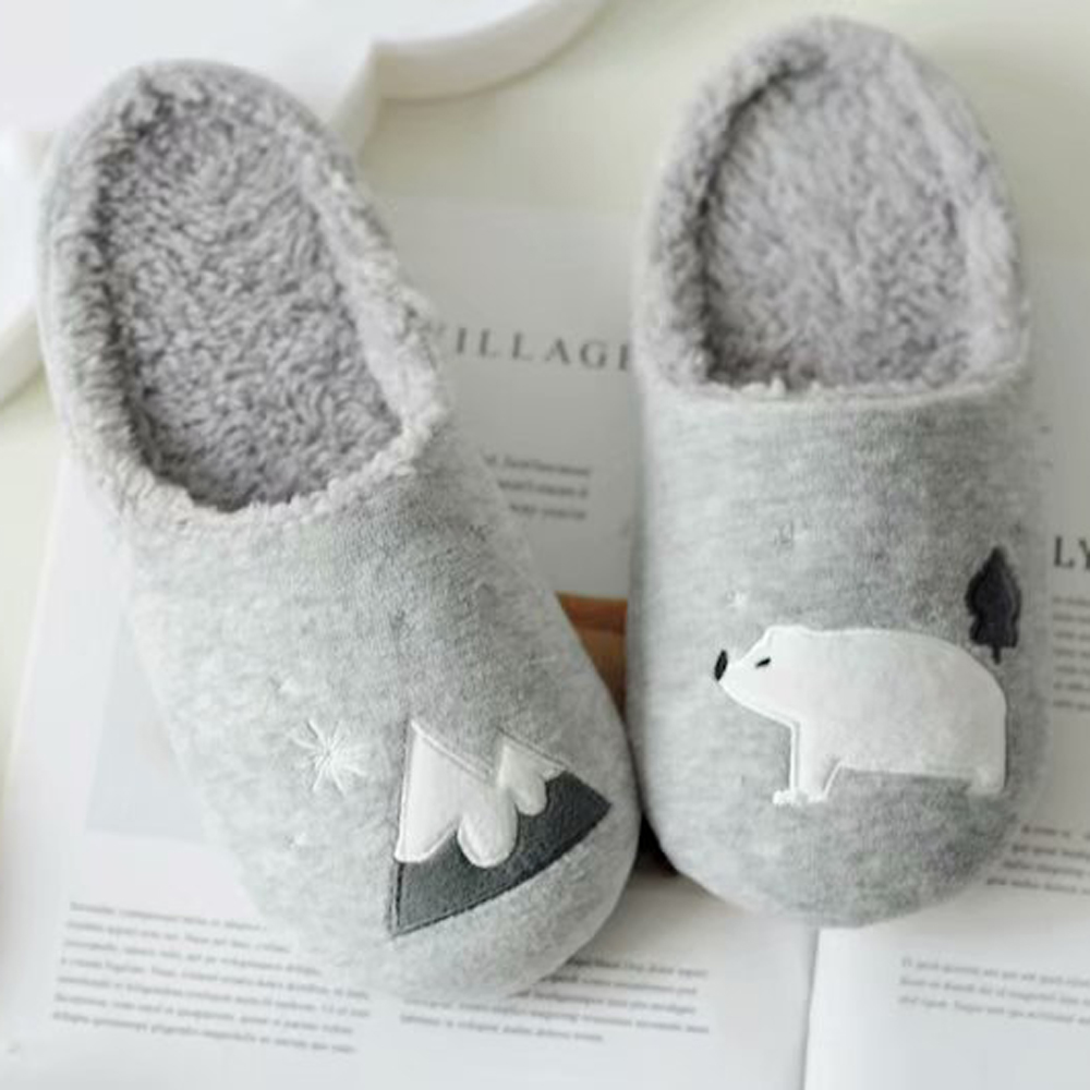 BUNNY LIFE 冰山北極熊短絨保暖居家拖鞋