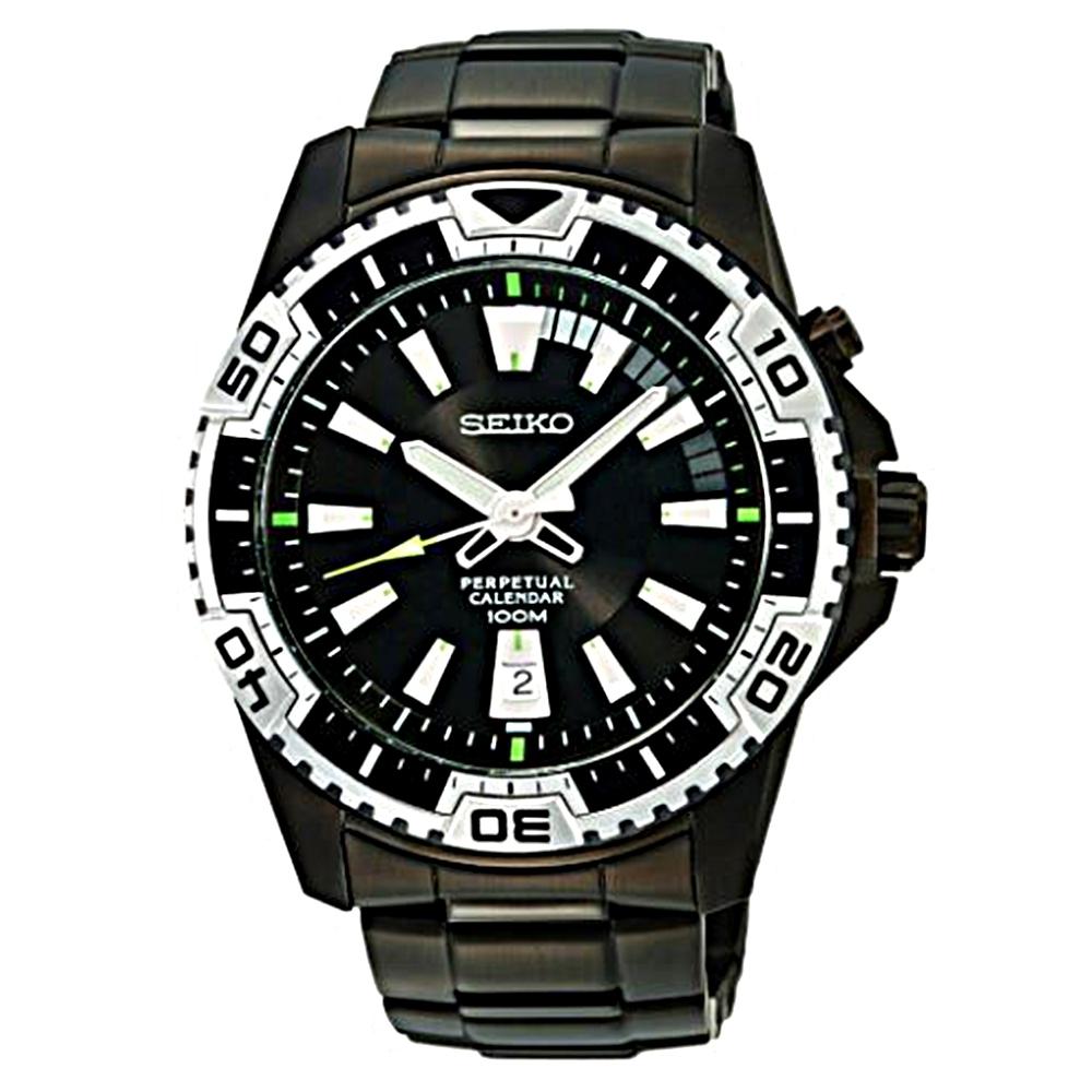 SEIKO 精工 金剛戰士時尚造型男用腕錶(黑-6A32-00S0SD)