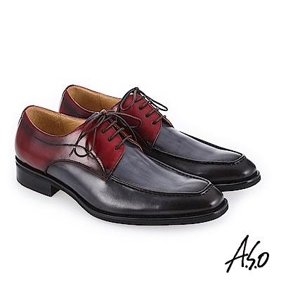 A.S.O 3D超動能 義式風格紳士鞋 深藍