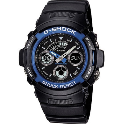 CASIO 卡西歐 G-SHOCK 雙顯運動錶(AW-591-2A)
