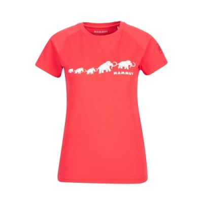 【Mammut 長毛象】QD Logo Print T-Shirt AF 輕便LOGO短T 女款 日落紅PRT3 #1017-02021
