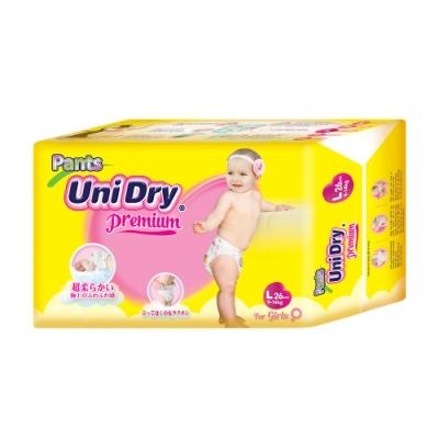Unidry優力褲 嬰兒褲型紙尿褲特級版女生版L(26片x8包/箱)(嬰兒紙尿褲 褲型紙尿褲)