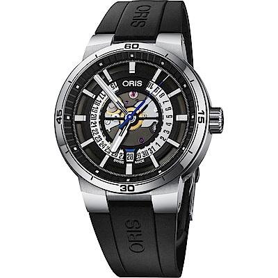 ORIS 豪利時 Williams TT1 鏤空日期機械錶-黑/42mm