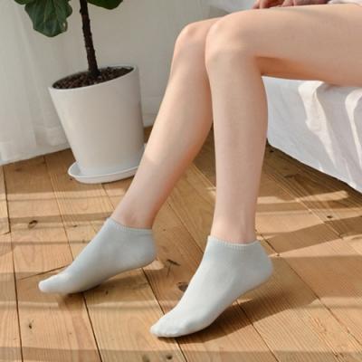Dylce 黛歐絲 日韓100%純色精梳棉淺口隱形襪/船型襪(超值10雙-隨機)