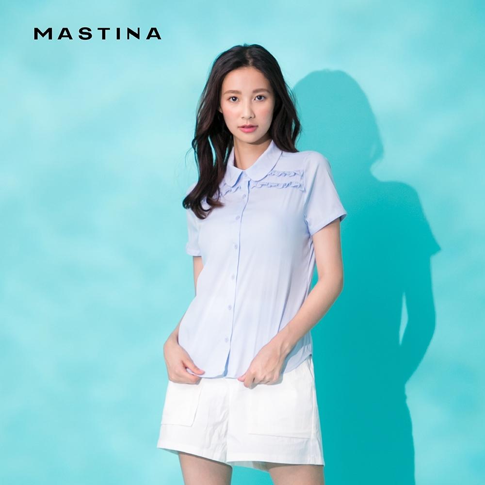 【MASTINA】氣質荷葉邊裝飾-襯衫(二色)