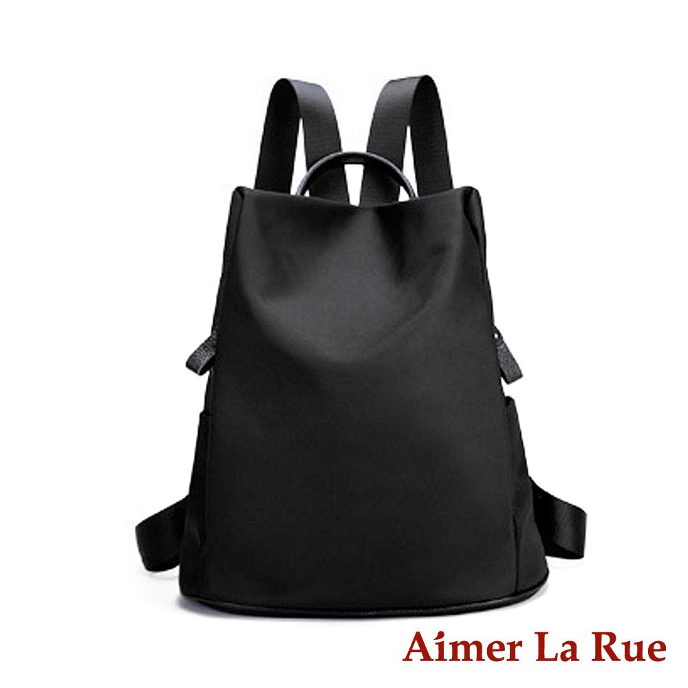 Aimer La Rue 率性輕盈尼龍後背包-黑色(快) @ Y!購物