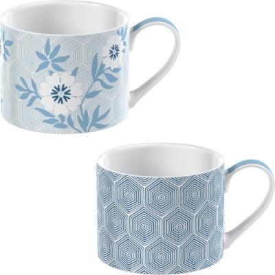 《CreativeTops》濃縮咖啡杯2入(幾何花卉150ml)