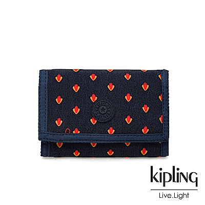 Kipling 紅黃幾何圖騰多夾層短夾-MICKYLINA