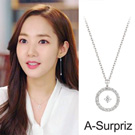 A-Surpriz 金秘書純925銀懸空透明鋯石項鍊(銀)