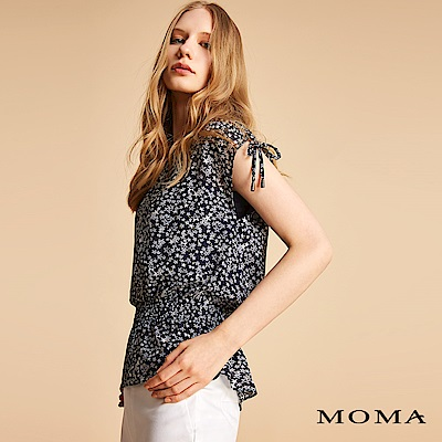 MOMA 星星抽繩雪紡上衣