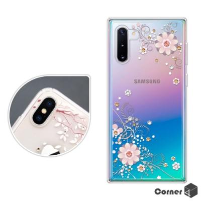 Corner4 Samsung Note 10 奧地利彩鑽雙料手機殼-風鈴草