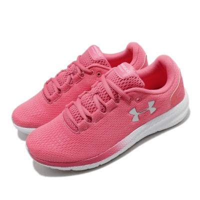 UA 慢跑鞋 Charged Pursuit 運動 女鞋 輕量 透氣 舒適 避震 路跑 健身 粉 白 3022604601