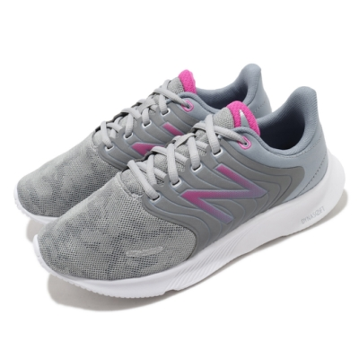 New Balance 慢跑鞋 068 Wide 寬楦 運動 女鞋 紐巴倫 輕量 透氣 舒適 避震 路跑 灰 粉 W068LGD