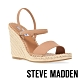 STEVE MADDEN-MCKENZIE 交叉繞踝細帶麻編楔型涼鞋-卡其 product thumbnail 1