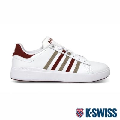 K-SWISS Pershing Court輕量時尚運動鞋-男-白/紅/卡其