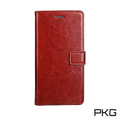 PKG 紅米Note5 側翻式皮套-經典皮套系列-棕