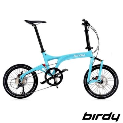 Birdy New BirdyⅢ Standard Disc 9SP 9速18吋碟煞前後避震折疊車-迷戀綠