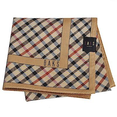 DAKS 經典品牌格紋字母LOGO大帕領巾(卡其色)