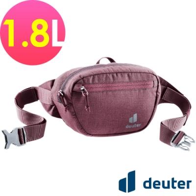 【deuter 德國】Organizer Belt 1.8L休閒輕量腰包3900421暗紅/胸包/側背包/路跑/慢跑