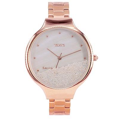 MEDOTA Ladies系列流沙雙層殼不鏽鋼錶帶女錶 / MI-9501