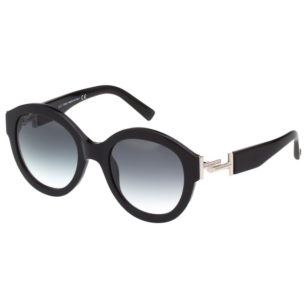 TOD'S 復古圓面 太陽眼鏡(黑色)TO208