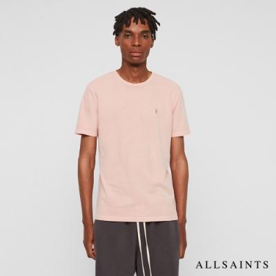 ALLSAINTS TONIC OSSAGE 漸層單色純棉短袖T恤-粉紅