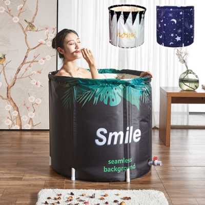 Effect 大容量好收納加大折疊泡澡浴桶70x65cm(3色) [限時搶]