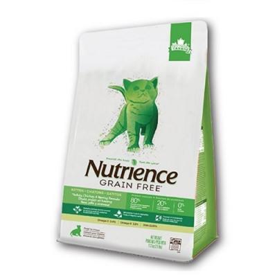 Nutrience紐崔斯GRAIN FREE無穀養生幼貓-火雞肉+雞肉+鯡魚(放養火雞&漢方草本) 1.13kg(2.5.lbs) (NT-F2536)