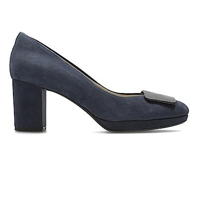 Clarks Kelda Gem 女高跟鞋 深藍