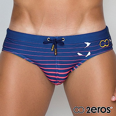 2EROS 飛鳥和弦漸層型男三角泳褲(海藍色)