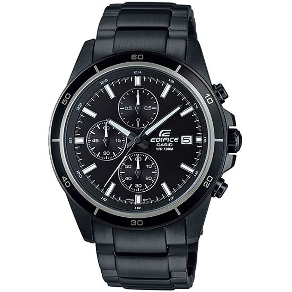 CASIO卡西歐EDIFICE賽車腕錶(EFR-526BK-1A1)-銀灰