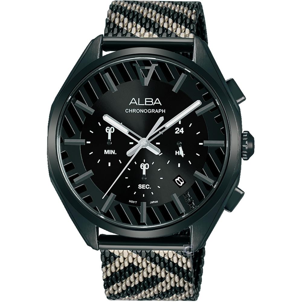 ALBA 雅柏 限量東京街頭潮流計時腕錶(VD53-X374SD)AT3H07X1
